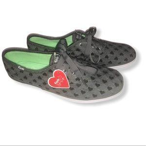 Keds X Taylor Swift grey heart print sneak…